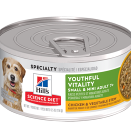 SCIENCE DIET HILL'S SCIENCE DIET CANINE ADULT 7+ SENIOR VITALITY SMALL & TOY CHICKEN & VEGETABLE STEW 5.5OZ