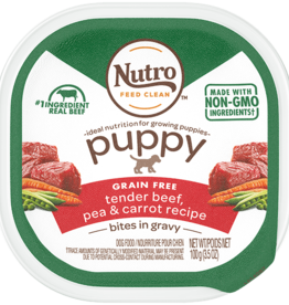 NUTRO PRODUCTS  INC. NUTRO PUPPY BEEF & VEGS 3.5OZ CASE OF 24