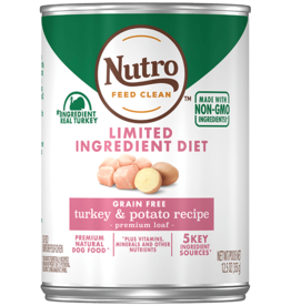 NUTRO PRODUCTS  INC. NUTRO DOG LID GRAIN FREE TURKEY & POTATO CAN 12.5OZ CASE OF 12