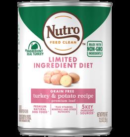 NUTRO PRODUCTS  INC. NUTRO DOG LID GRAIN FREE TURKEY & POTATO CAN 12.5OZ