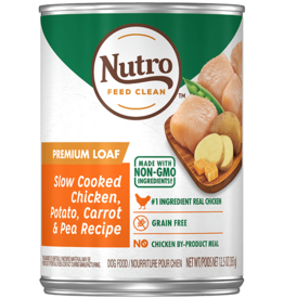 NUTRO PRODUCTS  INC. NUTRO DOG PREMIUM LOAF CHICKEN, POTATO, CARROT & PEA 12.5OZ CASE OF 12