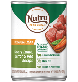 NUTRO PRODUCTS  INC. NUTRO DOG PREMIUM LOAF SAVORY LAMB, CARROT & PEA CAN 12.5OZ CASE OF 12