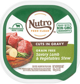 NUTRO PRODUCTS  INC. NUTRO DOG SAVORY LAMB & VEGETABLE STEW TRAY 3.5OZ