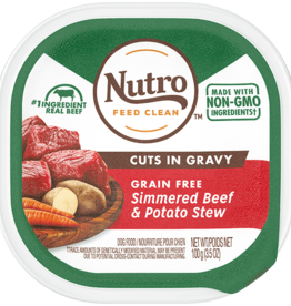 NUTRO PRODUCTS  INC. NUTRO DOG SIMMERED BEEF & POTATO STEW TRAY 3.5OZ