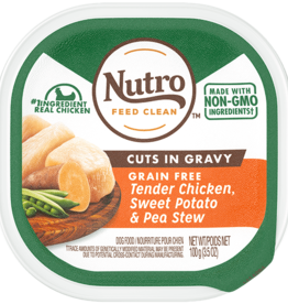 NUTRO PRODUCTS  INC. NUTRO DOG TENDER CHICKEN SWEET POTATO & PEA STEW 3.5OZ TRAY CASE OF 24