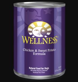 WELLPET LLC WELLNESS DOG CAN CHICKEN & SWEET POTATO 12.5OZ CASE OF 12
