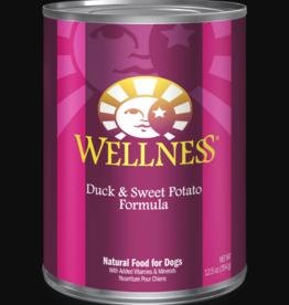 WELLPET LLC WELLNESS DOG CAN DUCK & SWEET POTATO 12.5OZ CASE OF 12