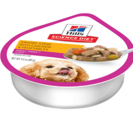 SCIENCE DIET HILL'S SCIENCE DIET CANINE PUPPY SMALL & TOY SAVORY STEW CHICKEN & VEGETABLES CAN 3.5OZ