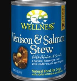 WELLPET LLC WELLNESS DOG CAN VENISON & SALMON STEW 12.5OZ