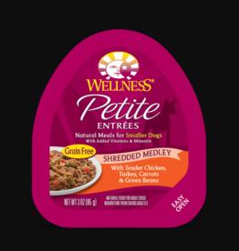 WELLPET LLC WELLNESS PETITE ENTREES CHICKEN, TURKEY, CARROTS & GREEN BEANS SMALL BREED 3OZ CASE OF 12