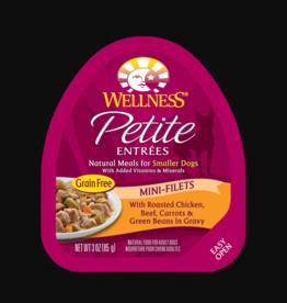 WELLPET LLC WELLNESS PETITE ENTREES CHICKEN,BEEF,CARROTS & GREEN BEANS 3OZ CASE OF 12