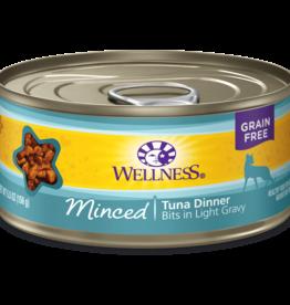 WELLPET LLC WELLNESS CAT CAN MINCED TUNA DINNER 5.5OZ CASE OF 24