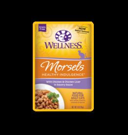 WELLPET LLC WELLNESS CAT HEALTHY INDULGENCE MORSELS CHICKEN & CHICKEN LIVERS 3OZ