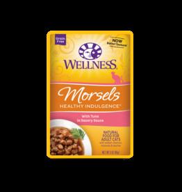 WELLPET LLC WELLNESS CAT HEALTHY INDULGENCE MORSELS TUNA IN SAVORY SAUCE 3OZ CASE OF 24