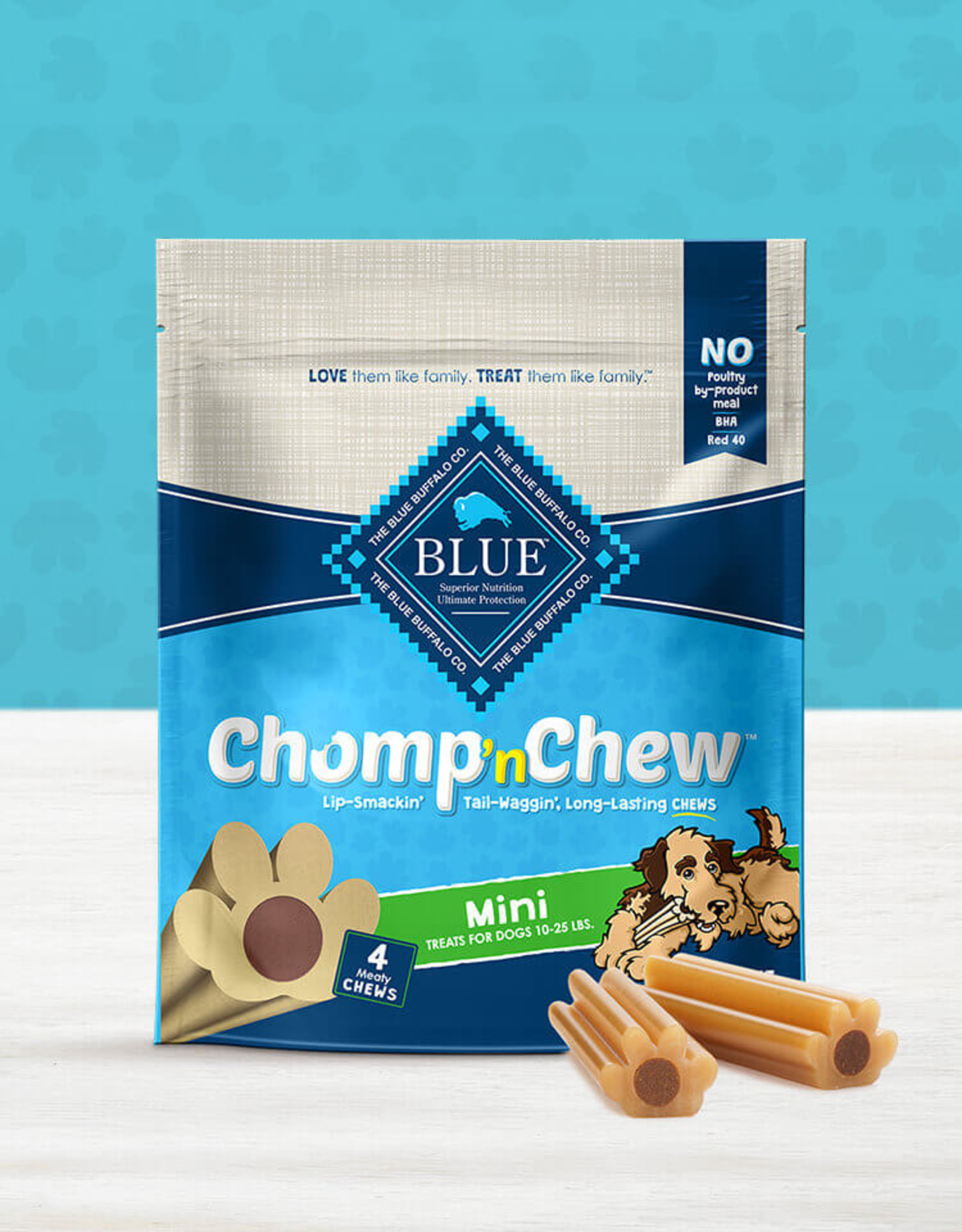 BLUE BUFFALO COMPANY BLUE BUFFALO CHOMP N' CHEW MINI 4CT
