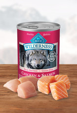 BLUE BUFFALO COMPANY BLUE BUFFALO WILDERNESS DOG SALMON & CHICKEN CAN 12.5OZ CASE OF 12