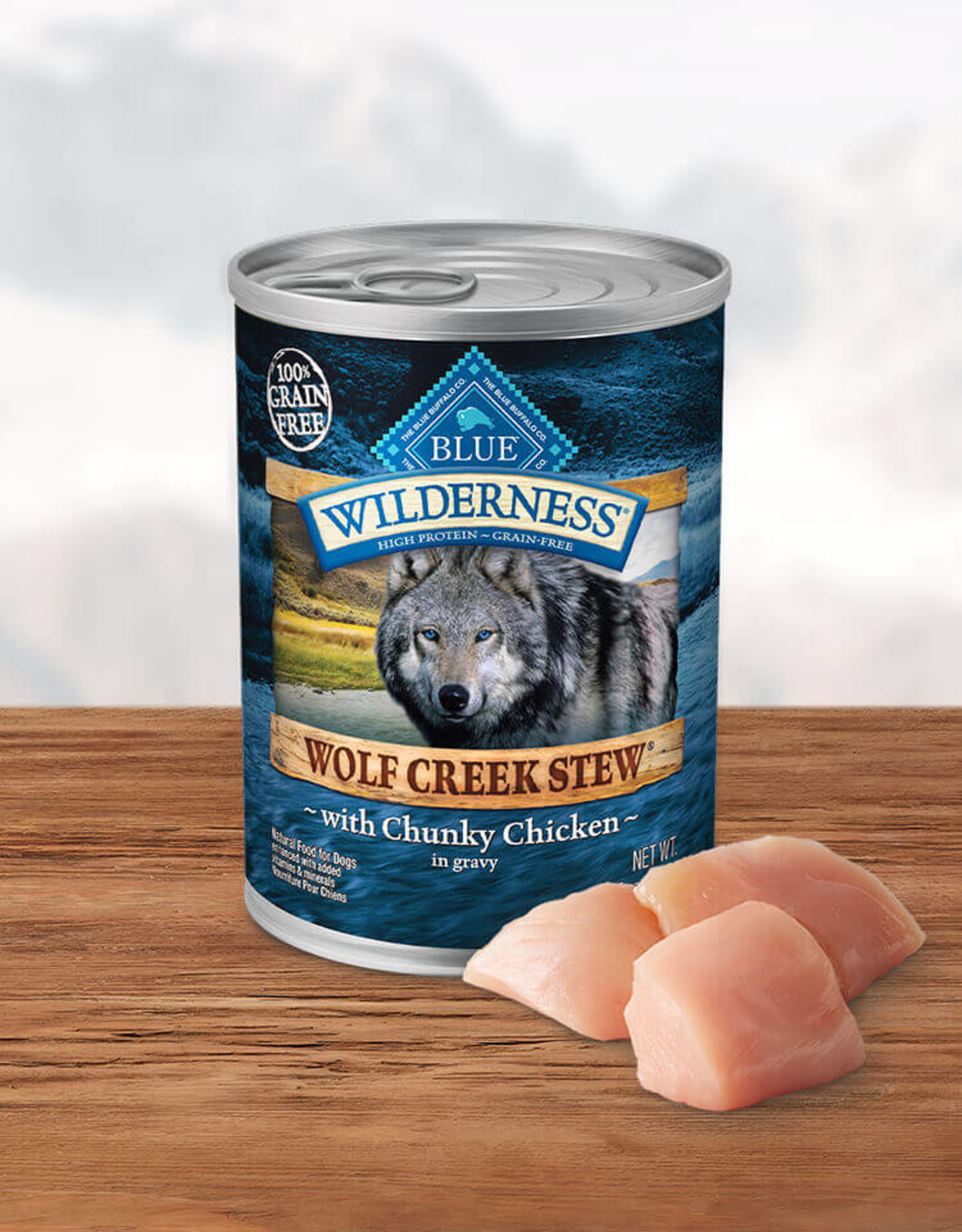 BLUE BUFFALO COMPANY BLUE BUFFALO WILDERNESS WOLF CREEK CHICKEN STEW 12.5OZ