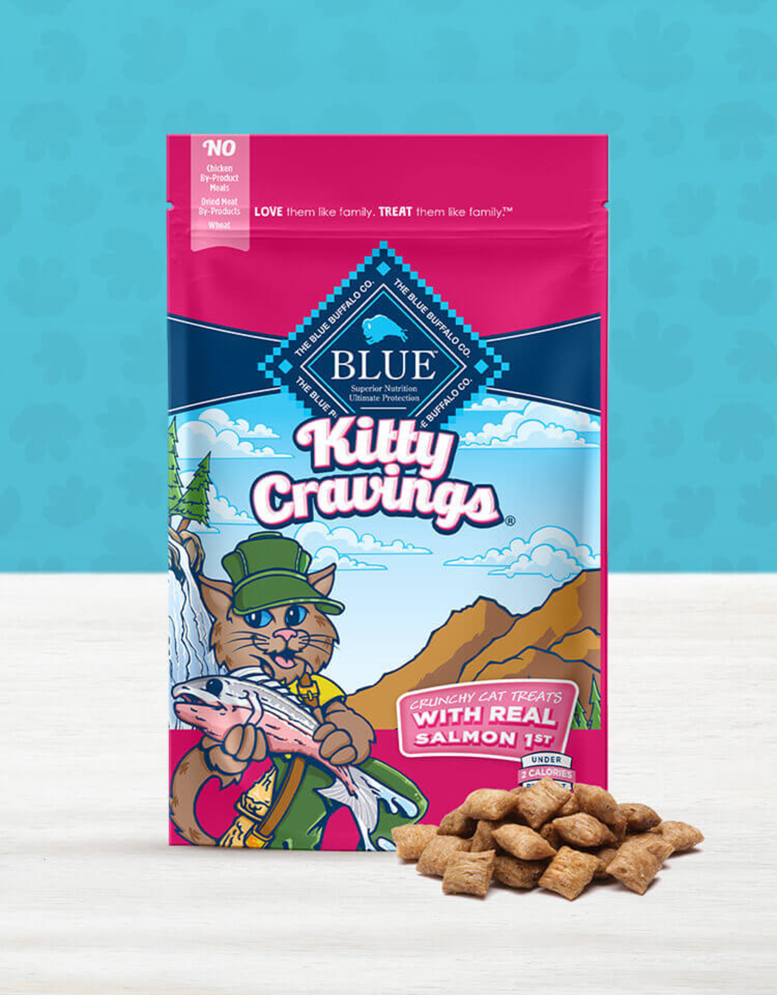 BLUE BUFFALO COMPANY BLUE BUFFALO KITTY CRAVINGS SALMON 2OZ DISCONTINUED