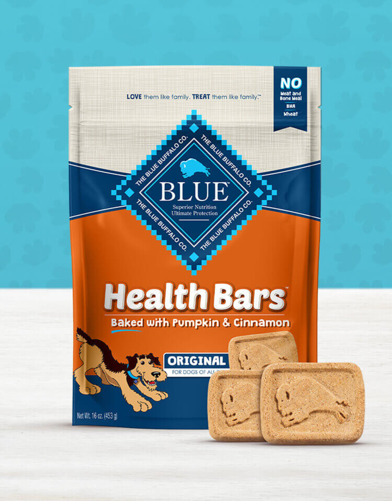 BLUE BUFFALO COMPANY BLUE BUFFALO DOG TREAT HEALTH BAR PUMPKIN CINNAMON 16oz
