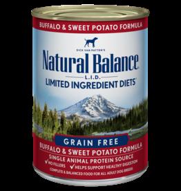 NATURAL BALANCE PET FOODS, INC NATURAL BALANCE DOG BUFFALO & SWEET POTATO CAN 13OZ