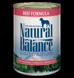 NATURAL BALANCE PET FOODS, INC NATURAL BALANCE DOG CAN BEEF FORMULA 13OZ