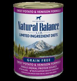 NATURAL BALANCE PET FOODS, INC NATURAL BALANCE DOG CAN SWEET POTATO & VENISON FORMULA 13OZ CASE OF 12