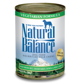 NATURAL BALANCE PET FOODS, INC NATURAL BALANCE DOG CAN VEGETARIAN 13OZ CASE OF 12