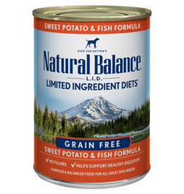 NATURAL BALANCE PET FOODS, INC NATURAL BALANCE DOG FISH & SWEET POTATO 6OZ CAN