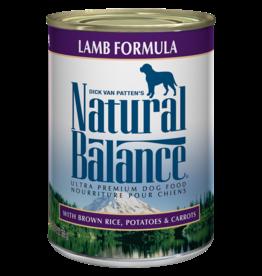 NATURAL BALANCE PET FOODS, INC NATURAL BALANCE DOG LAMB FORMULA CAN 13Z CASE OF 12