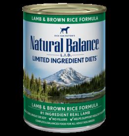 NATURAL BALANCE PET FOODS, INC NATURAL BALANCE DOG LAMB & BROWN RICE 13OZ CASE OF 12