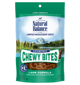 NATURAL BALANCE PET FOODS, INC NATURAL BALANCE LID CHEWY BITES LAMB 4 OZ