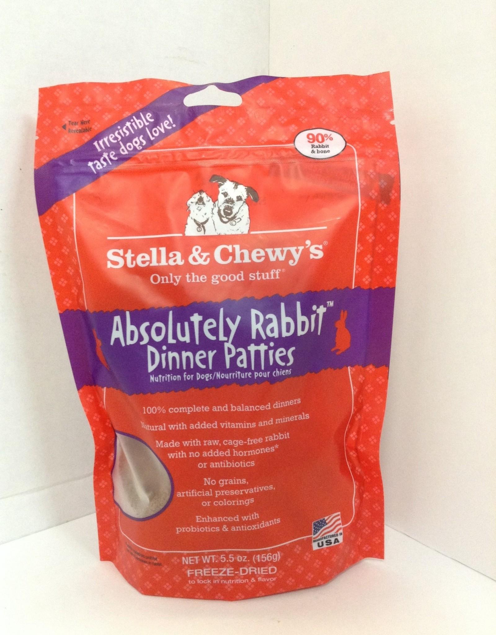 STELLA & CHEWY'S LLC ABSOLUTELY RABBIT FREEZE DRIED PATTIES DOG 5.5OZ STELLA & CHEWY'S