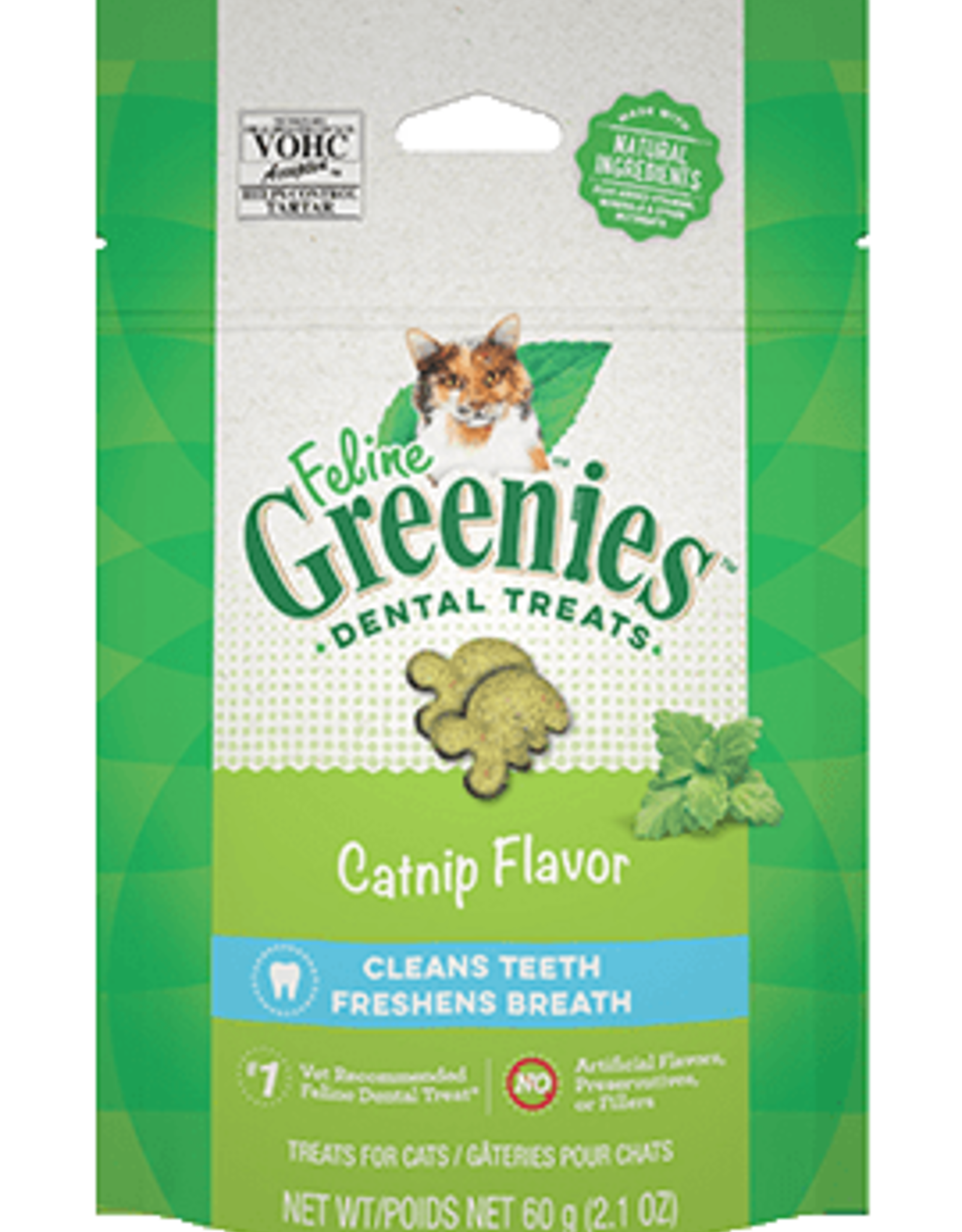 GREENIES GREENIES FELINE DENTAL TREAT CATNIP 2.5OZ