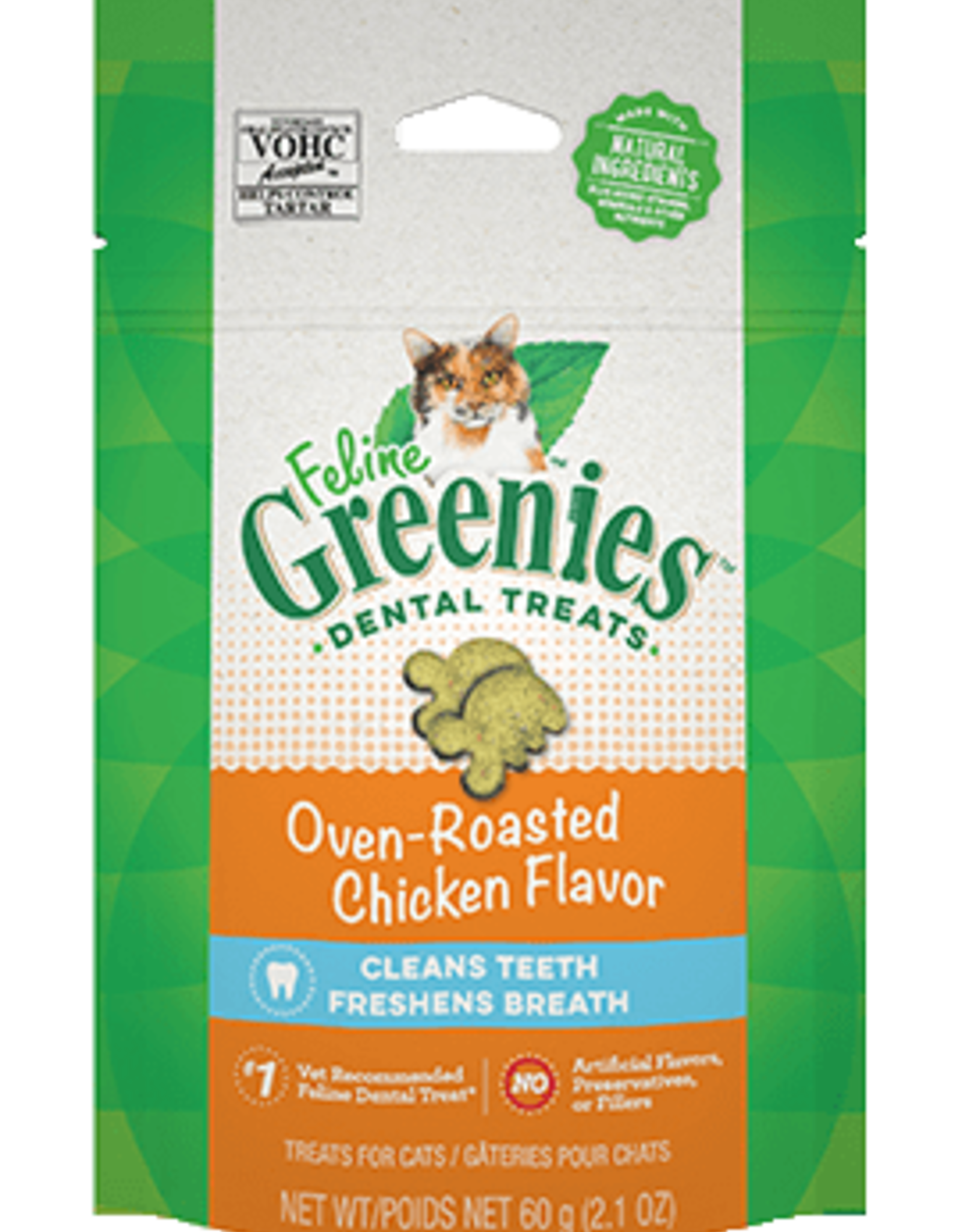 GREENIES GREENIES FELINE DENTAL CHICKEN TREAT 2.1OZ