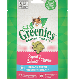 GREENIES GREENIES FELINE DENTAL SAVORY SALMON TREAT 4.65OZ