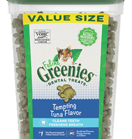 GREENIES GREENIES FELINE DENTAL TEMPTING TUNA TREAT TUB 9.75OZ