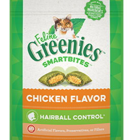 GREENIES GREENIES FELINE SMARTBITES HAIRBALL CONTROL CHICKEN 4.6OZ