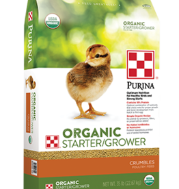 PURINA MILLS, INC. ORGANIC STARTER/GROWER CRUMBLES PURINA 35LBS