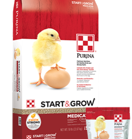 PURINA MILLS, INC. START & GROW MEDICATED 25LBS
