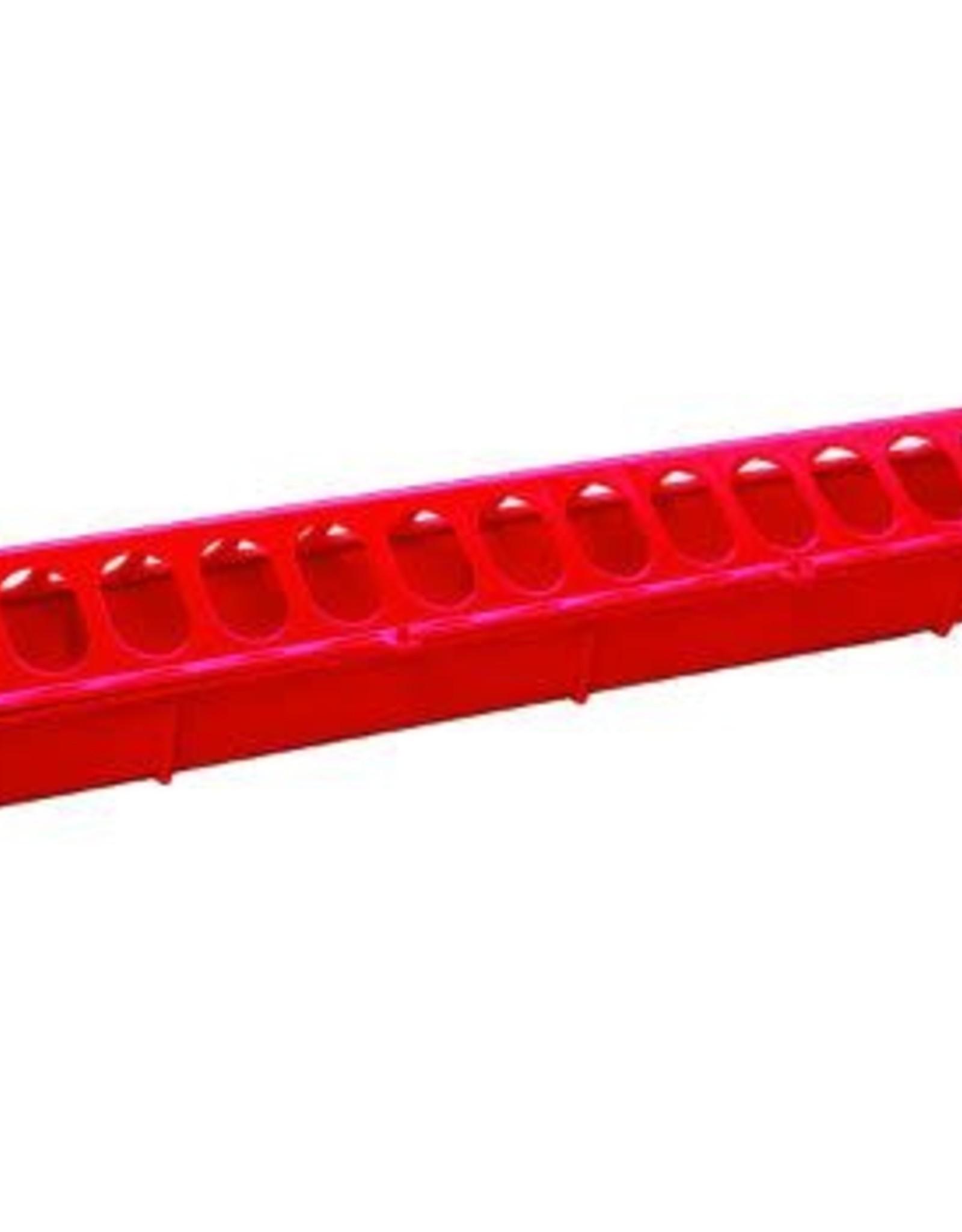 MILLER MANUFACTURING FEEDER 20 INCH CHICKEN PLASTIC RED