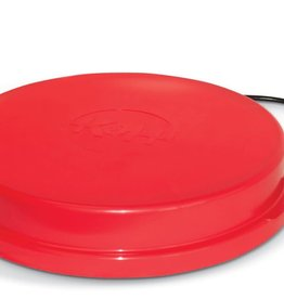 K&H PET PRODUCTS HEATED POULTRY WATER BASE 80W RED