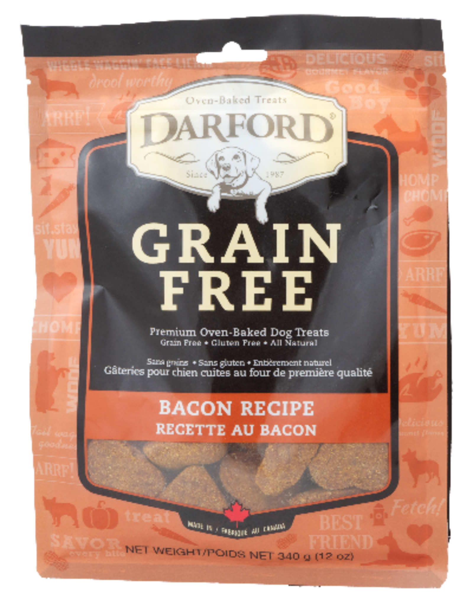 DARFORD INDUSTRIES DARFORD BISCUITS GRAIN FREE BACON RECIPE 12OZ