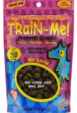 CARDINAL PET CARE CRAZY DOG TRAIN-ME! MINI REWARDS BEEF 4oz