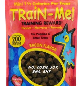 CARDINAL PET CARE CRAZY DOG TRAIN-ME! MINI REWARDS - BACON 4OZ