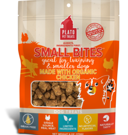 KDR PET TREATS PLATO DOG SMALL BITES GRAIN FREE ORGANIC CHICKEN 6OZ