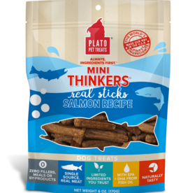 PLATO PET TREATS PLATO MINI THINKERS SALMON 3OZ