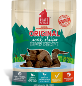 PLATO PET TREATS PLATO NATURAL DUCK STRIPS 6OZ