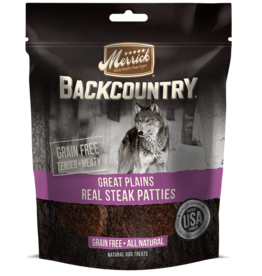 MERRICK PET CARE, INC. MERRICK BC GREAT PLAINS REAL STEAK PATTIES 4oz DOG TREAT