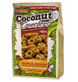 K9 GRANOLA FACTORY K9 GRANOLA FACTORY BISCUITS COCONUT CRUNCHERS TROPICAL BANANA 14OZ