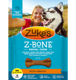 ZUKES Z-BONE DENTAL CHEW WITH CARROTS 8.25OZ